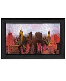 "NYC Skyline by Cloverfield Co, Ready to hang Framed Print, Black Frame, 21"" x 15"""