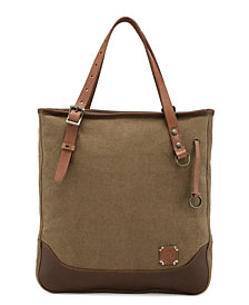 TSD BRAND Women's Redwood Canvas Tote