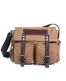 Hidden Woods Canvas Messenger Bag