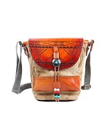Boho-Echo Canvas Crossbody Bag