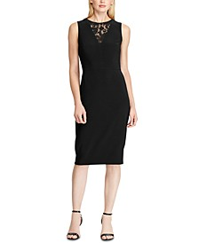 Petite Lace-Panel Jersey Dress