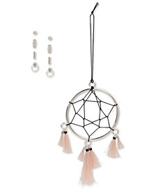 Silver-Tone Dreamcatcher Ornament & 4-Pc. Crystal Stud Earrings Gift Set