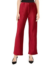 Petite Pleated Velvet Pants, Created For Macy's