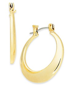 "Gold-Tone Small Round Hoop Earrings, 1"", Created For Macy's"
