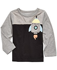 Toddler Boys Rocket-Print Pocket T-Shirt, Created For Macy's