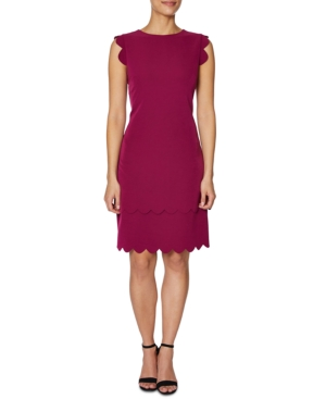 Betsey Johnson Dresses SCALLOPED-EDGE SHEATH DRESS