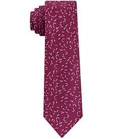 Men's Skinny Scattered Dashes Tie