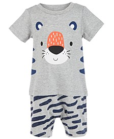 Baby Boys Cotton Tiger Sunsuit, Created For Macy's
