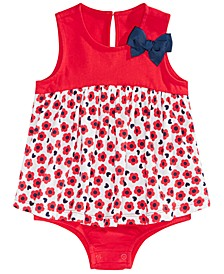 Baby Girls Floral-Print Skirted Sunsuit, Created For Macy's