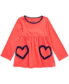 Baby Girls Ruched-Heart Cotton Tunic, Created For Macy's