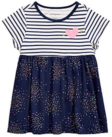 Baby Girls Confetti-Print Striped Cotton Tunic, Created for Macy's