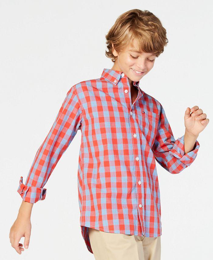 Tommy Hilfiger - Big Boy Box-Plaid Cotton Shirt
