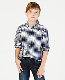 Tommy Hilfiger Gingham Buttondown Cotton Shirt, Big Boys