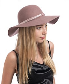 Satin And Chain Band Floppy Hat