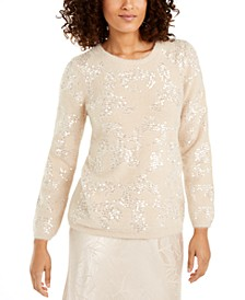 Embellished Eyelash Sweater, Created For Macy's