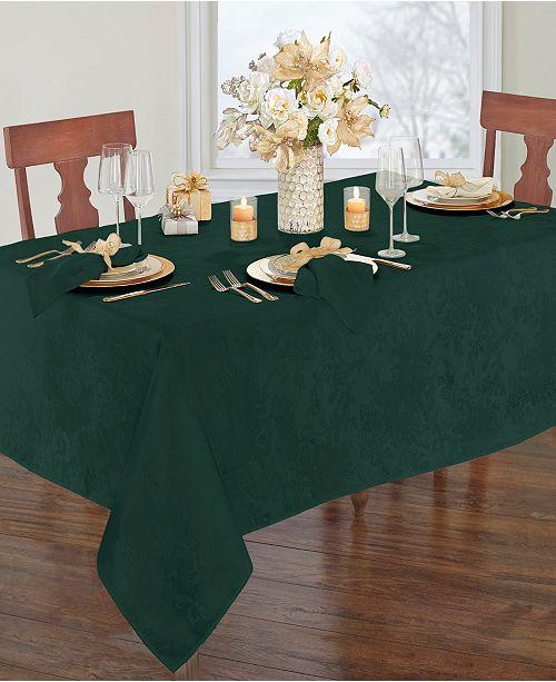 "Elrene Elrene Poinsettia Jacquard Holiday Tablecloth - 60"" x 144"""