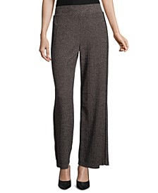 Wide-Leg Tweed Pants