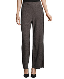 John Paul Richard Wide-Leg Tweed Pants