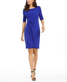 Petite Faux Wrap Dress