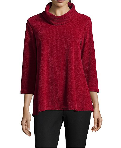 John Paul Richard Chenille Cowl Neck Sweater