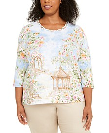 Plus Size Garden Party Top