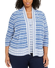 Plus Size Pearls Of Wisdom Layered-Look Necklace Top