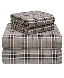 Plaid Flannel King Sheet Set
