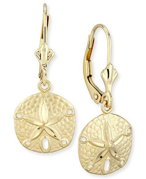 Macy's Sand Dollar Drop Earrings in 14k Gold