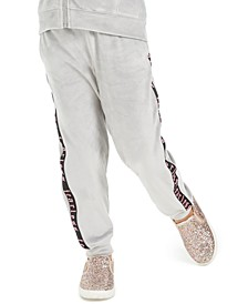 Little Girls Side-Taped Velour Sweatpants, Created for Macy's