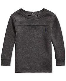 Baby Boys Waffle-Knit Cotton-Blend T-Shirt