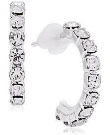 Link Up Diamante Hoop Earrings, 15mm