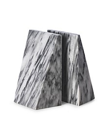 Carrera Solid Marble Wedge Bookends