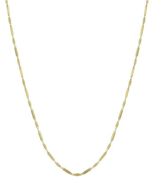 Downton Abbey 14K Gold-Dipped Multi-Rectangles Chain Necklace