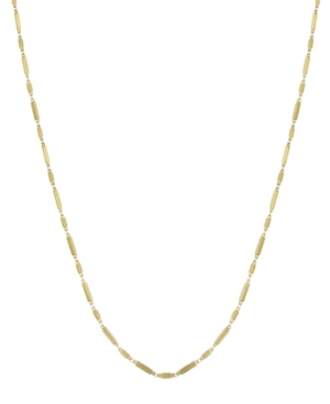 14K Gold-Dipped Multi-Rectangles Chain Necklace