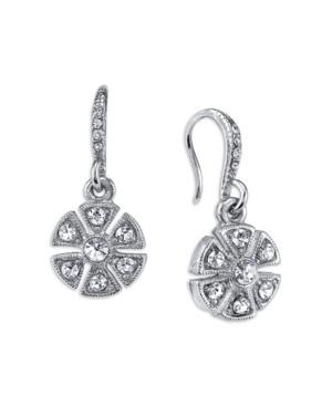 Crystal Art Deco Flower Drop Earrings