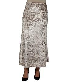 Women Taupe Velvet Maxi Skirt