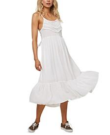 Juniors' Lexi Lace-Up-Back Midi Dress