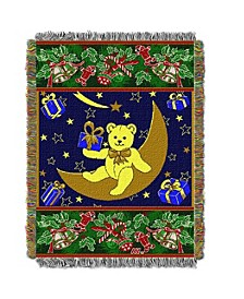 Holiday Teddy Bear Tapestry Throw