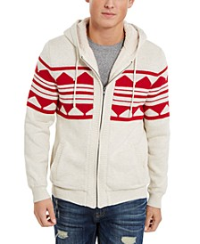 Men's Geometric Zip-Front Hoodie, Created For Macy's