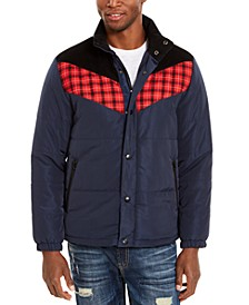 Men's Brady Colorblocked Puffer Jacket, Created For Macy's