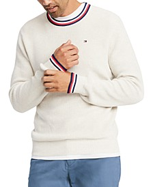 Men's Geneva Regular-Fit Tipped Ribbed-Knit Sweater