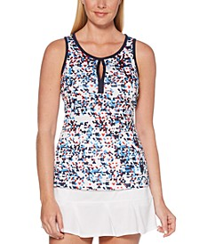 Grand Slam BY Confetti Printed Racerback Tank Top