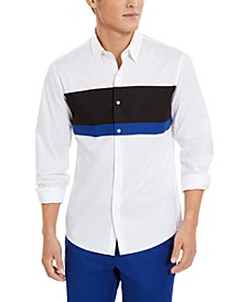 Men's Slim-Fit Stretch Colorblocked Shirt