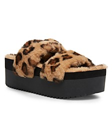 Furbeee Platform Slippers