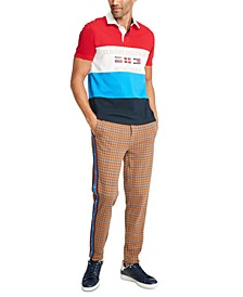 Men's Mickey Colorblocked Flag Graphic Rugby Shirt, Created For Macy's