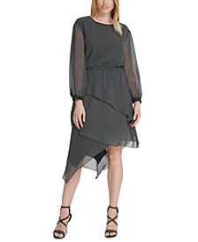 Chiffon Asymmetrical-Tier Dress