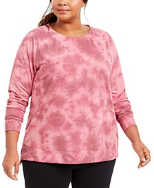 Plus Size Tie-Dye Sweatshirt, Created For Macy's