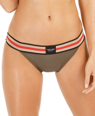 Stretch-Waistband Logo Bikini Bottoms