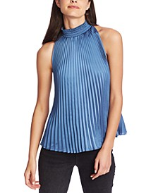 Pleated Halter-Neck Blouse
