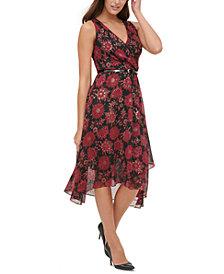 Tommy Hilfiger Petite Belted Midi Dress